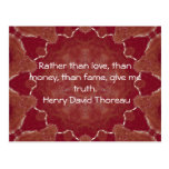 El decir de la cita de la sabiduría de Henry David Tarjetas Postales