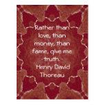 El decir de la cita de la sabiduría de Henry David Postales