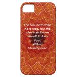 El decir de la cita de la sabiduría de William Sha iPhone 5 Protectores
