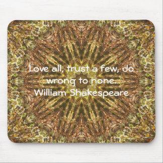El decir de la cita de la sabiduría de William Tapete De Raton
