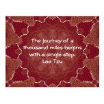 El decir de motivación de la cita de la sabiduría  tarjeta postal