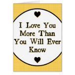 El decir del amor tarjeta