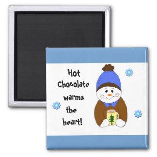El decir del chocolate caliente imán cuadrado