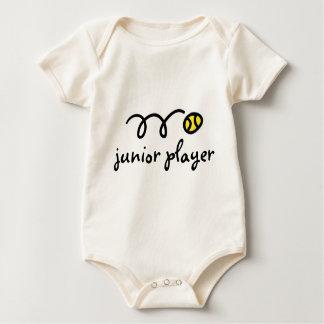 El decir del equipo del bebé del tenis: jugador body para bebé