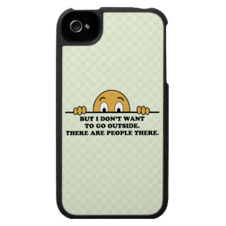 El decir del humor de la fobia social iPhone 4 protectores