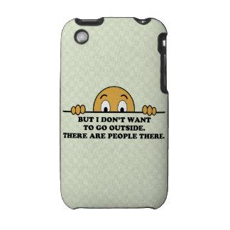 El decir del humor de la fobia social iPhone 3 protectores