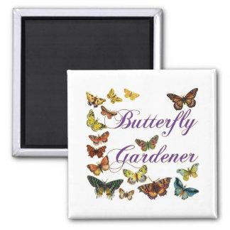 El decir del jardinero de la mariposa imán de frigorífico