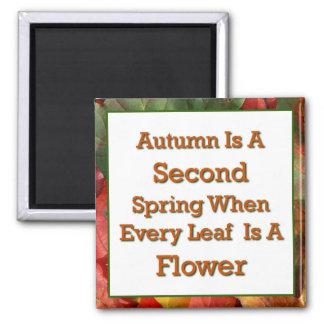 El decir del otoño imán cuadrado