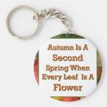 El decir del otoño llavero personalizado