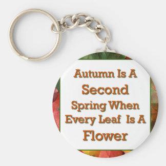 El decir del otoño llavero redondo tipo pin