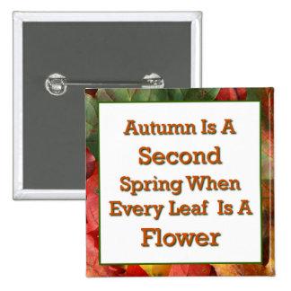 El decir del otoño pin cuadrada 5 cm