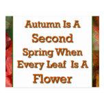 El decir del otoño postal