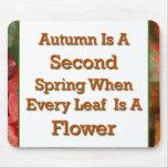 El decir del otoño tapetes de ratón