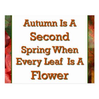 El decir del otoño tarjeta postal