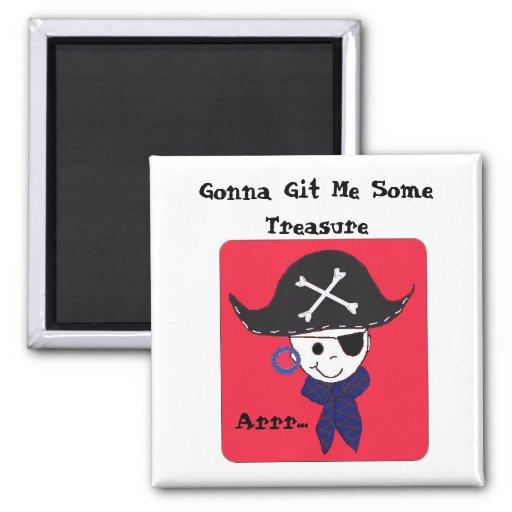 El decir del tesoro del pirata imán cuadrado