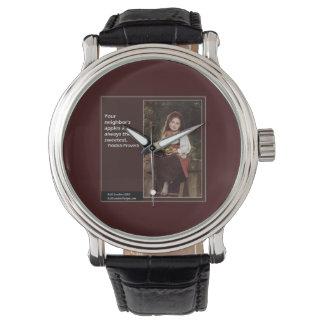 El decir del Yiddish y pintura gráfica en el reloj