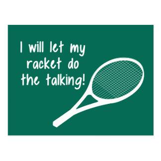 El decir divertido de la estafa de tenis postal
