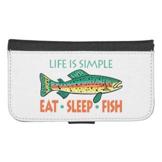 El decir divertido de la pesca billeteras para teléfono