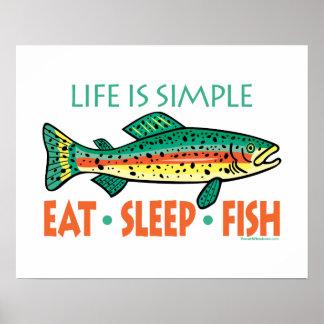 El decir divertido de la pesca poster
