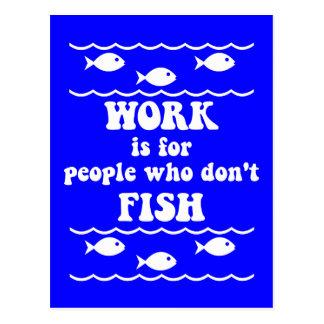 El decir divertido de la pesca postales