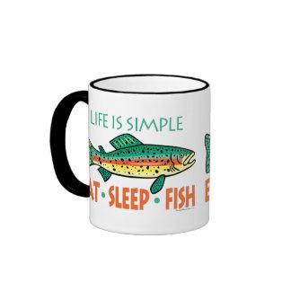 El decir divertido de la pesca taza de café