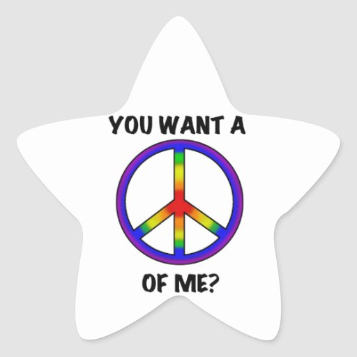 El decir divertido del arco iris del humor quiere pegatina en forma de estrella