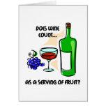 El decir divertido del humor del vino felicitación