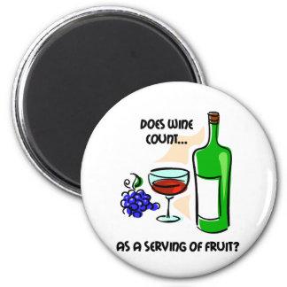 El decir divertido del humor del vino imán redondo 5 cm