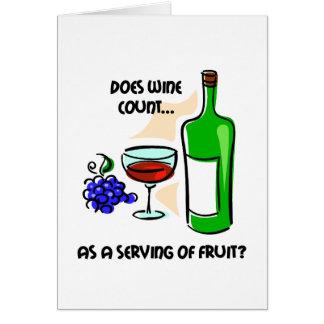 El decir divertido del humor del vino tarjeta de felicitación