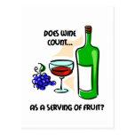 El decir divertido del humor del vino tarjetas postales