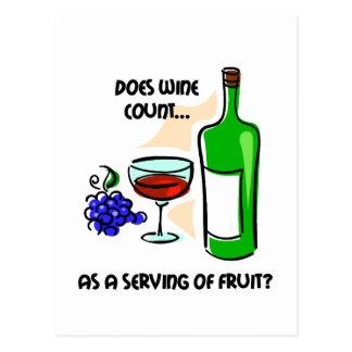 El decir divertido del humor del vino tarjeta postal
