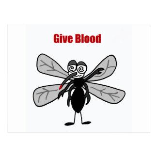 El decir divertido del mosquito da diseño de la tarjetas postales