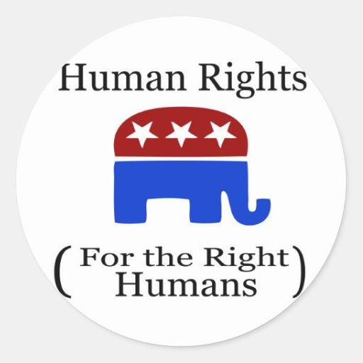 El decir divertido del republicano etiquetas redondas
