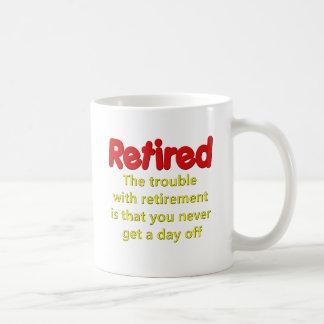 El decir divertido del retiro tazas de café