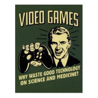 El decir divertido del videojuego postal