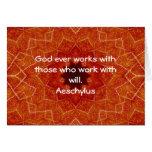El decir inspirado de la cita de Aeschylus Felicitaciones