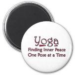 El decir lindo de la yoga imán para frigorífico