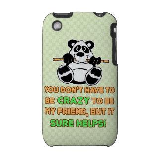 El decir loco del humor de los amigos iPhone 3 cárcasas