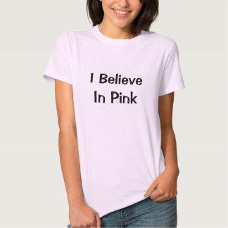 El decir rosado de las camisetas playera