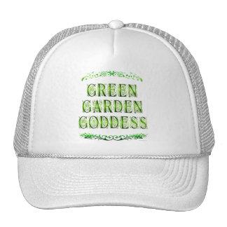 El decir verde de la diosa del jardín gorros bordados