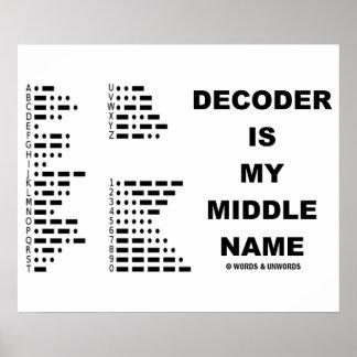 El decodificador es mi nombre medio (el código Mor Poster
