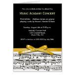 El decreto blanco y amarillo negro del concierto tarjeta de felicitación