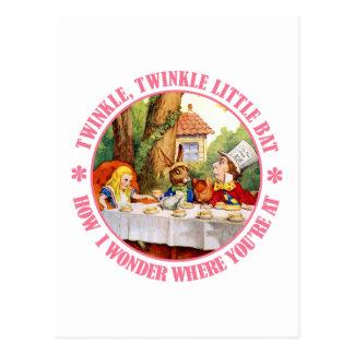 El decreto de la fiesta del té del sombrerero tarjetas postales