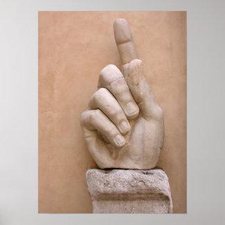 El dedo del emperador póster