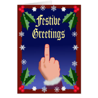 El dedo festivo tarjetón
