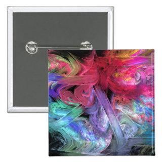 El dedo pinta arte abstracto del fractal pin