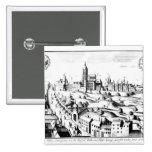 El Defenestration de Praga, el 3 de agosto de 1618 Pin Cuadrado