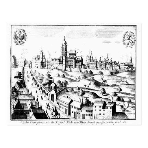 El Defenestration de Praga, el 3 de agosto de 1618 Tarjeta Postal