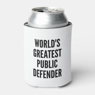 El defensor público más grande de los mundos enfriador de latas