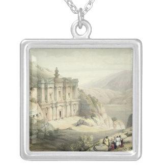El Deir, Petra Square Pendant Necklace